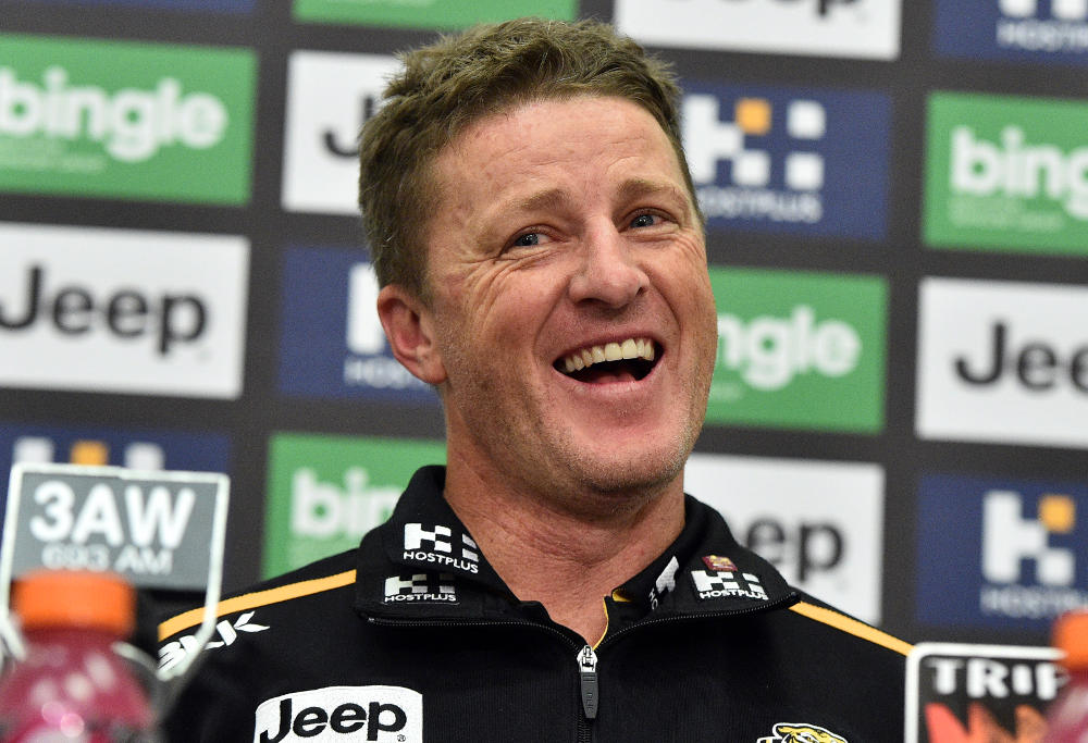 Coach of the Tigers, Damien Hardwick