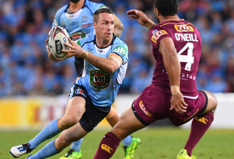 James Maloney NSW Blues State of Origin NRL Rugby League 2017 tall