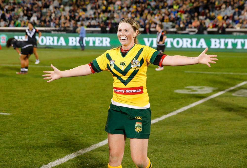 Maddie Studdon Australia Jillaroos Rugby League Anzac Test 2017