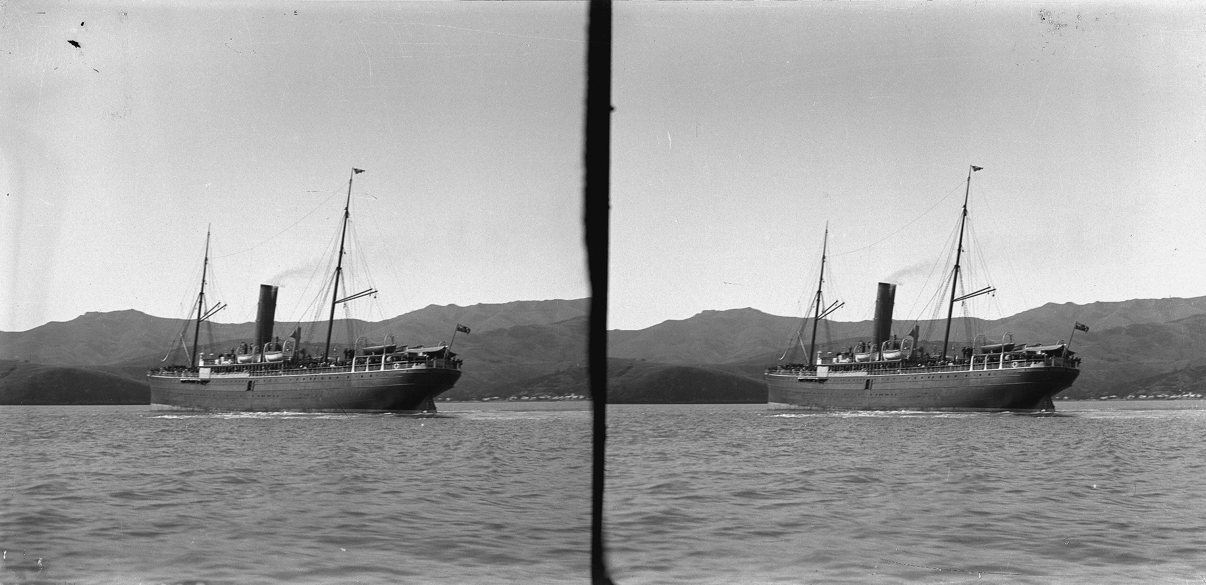 The Mararoa steamship, 1909