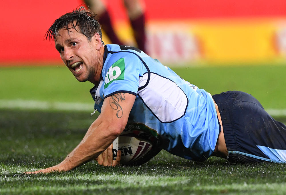 Mitchell Pearce NSW Blues State of Origin NRL Rugby League 2017