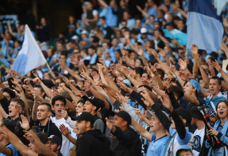 Sydney FC fans Football A-League Grand Final 2017