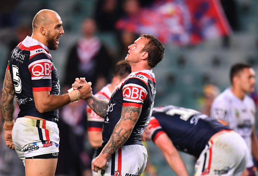 Blake Ferguson Jake Friend Sydney Roosters NRL Rugby League 2017