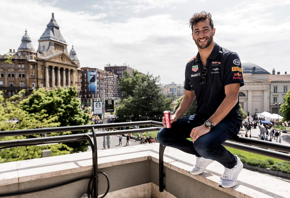 Formula One's Daniel Ricciardo of Red Bull poses for a portrait.