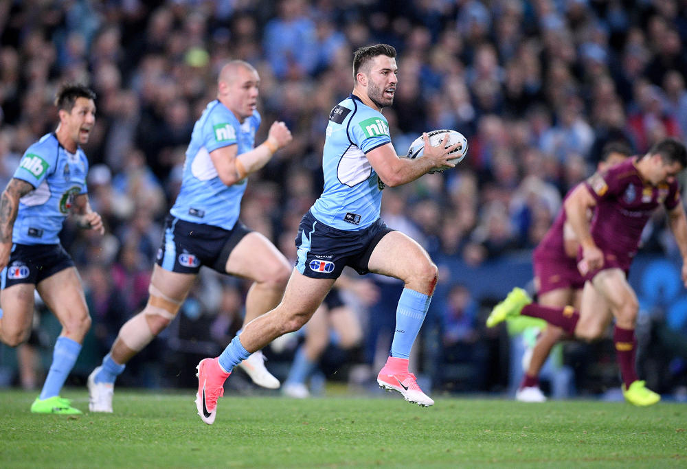 James Tedesco running during Origin