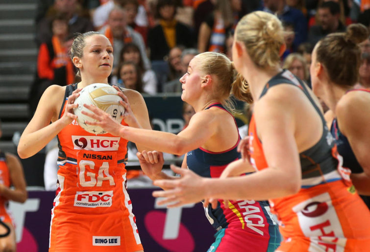 Jo Harten in action for the Giants