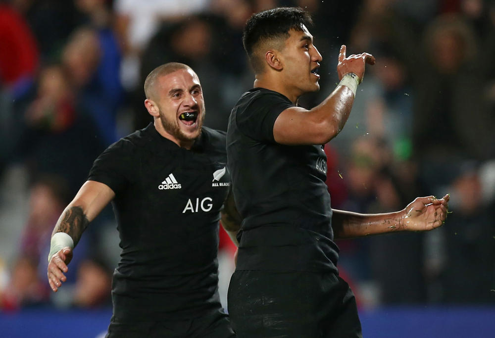 Rieko Ioane New Zealand Rugby Union All Blacks 2017