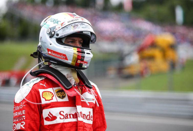 Ferrari's Sebastian Vettel looks on during the Formula One Austrian Grand Prix.