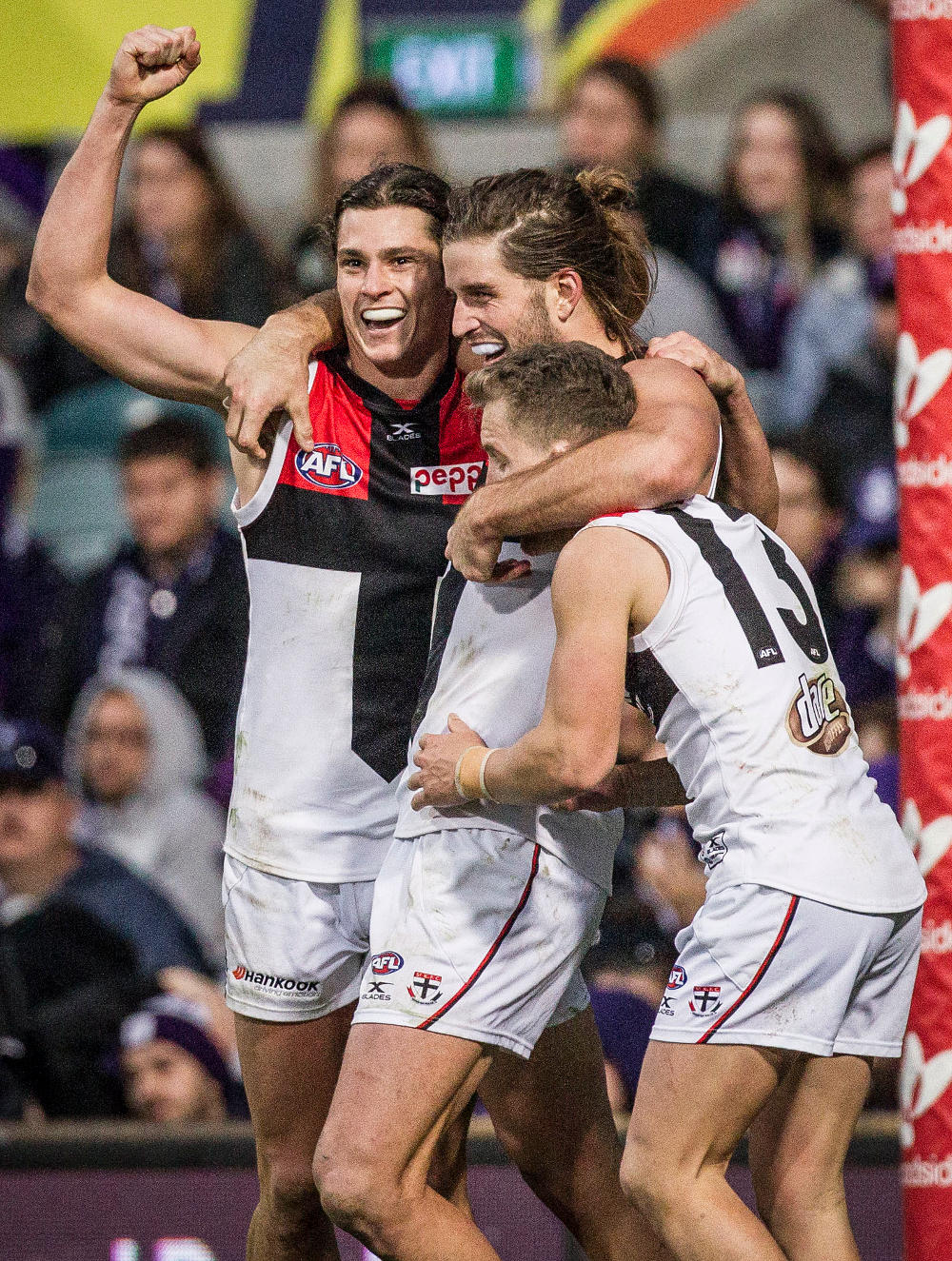 Jack Steele Josh Bruce St Kilda Saints AFL 2017 tall