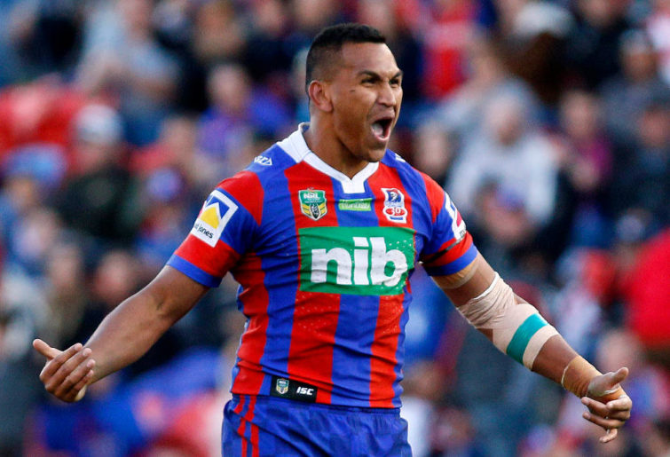Jacob Saifiti Newcastle Knights NRL Rugby League 2017