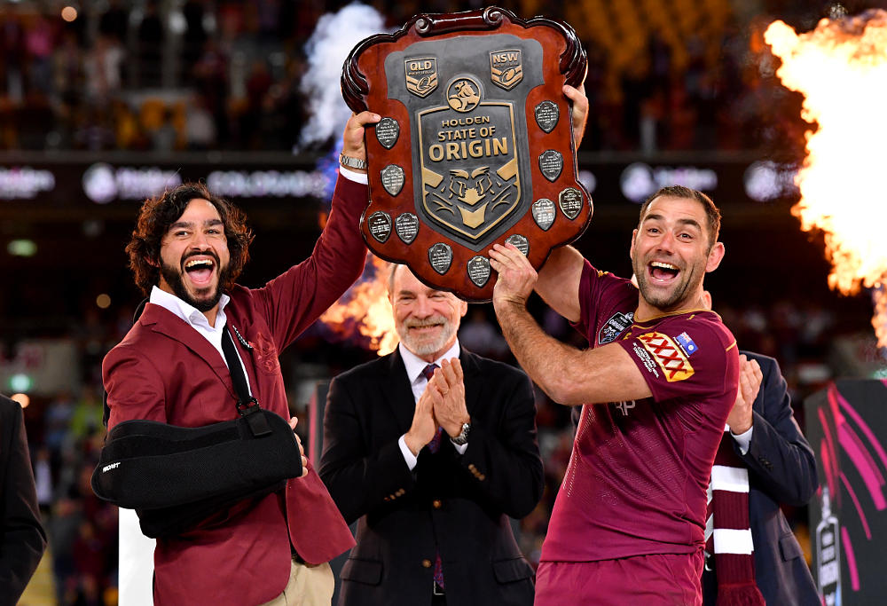 Johnathan Thurston Cameron Smith Queensland Maroons State of Origin NRL 2017