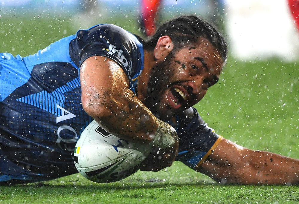 Konrad Hurrell Gold Coast Titans NRL Rugby League 2017