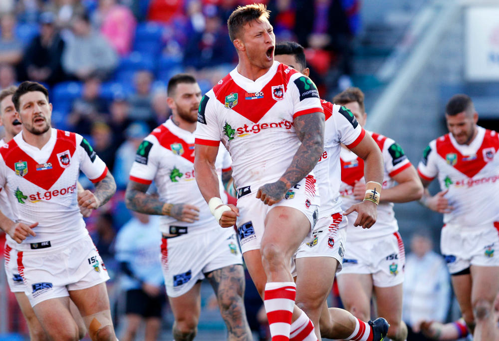 Tariq Sims St George Illawarra Dragons NRL Rugby League 2017