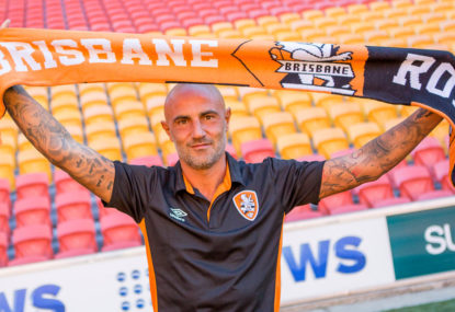 Cult hero Maccarone is risky business for Brisbane Roar