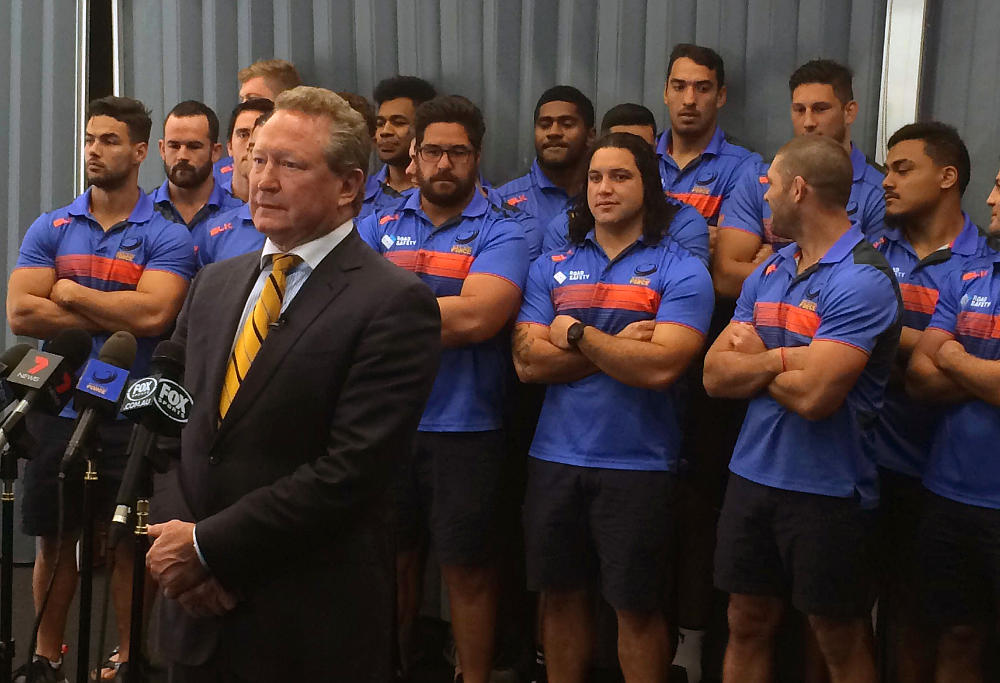 Andrew Forrest with Western Force players