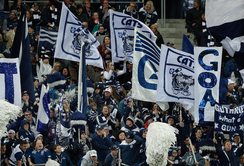 Geelong Cats fans AFL 2017