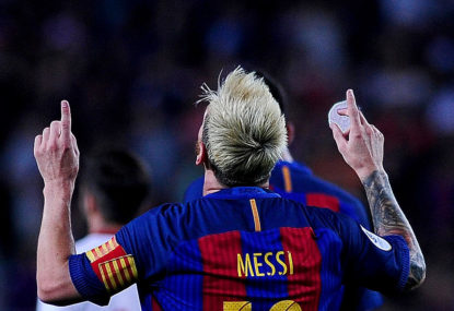 Messi double puts Barcelona in charge of Champions League semi-final