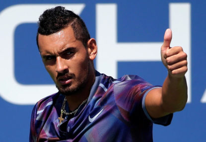 Newcombe challenges Kyrgios to step up