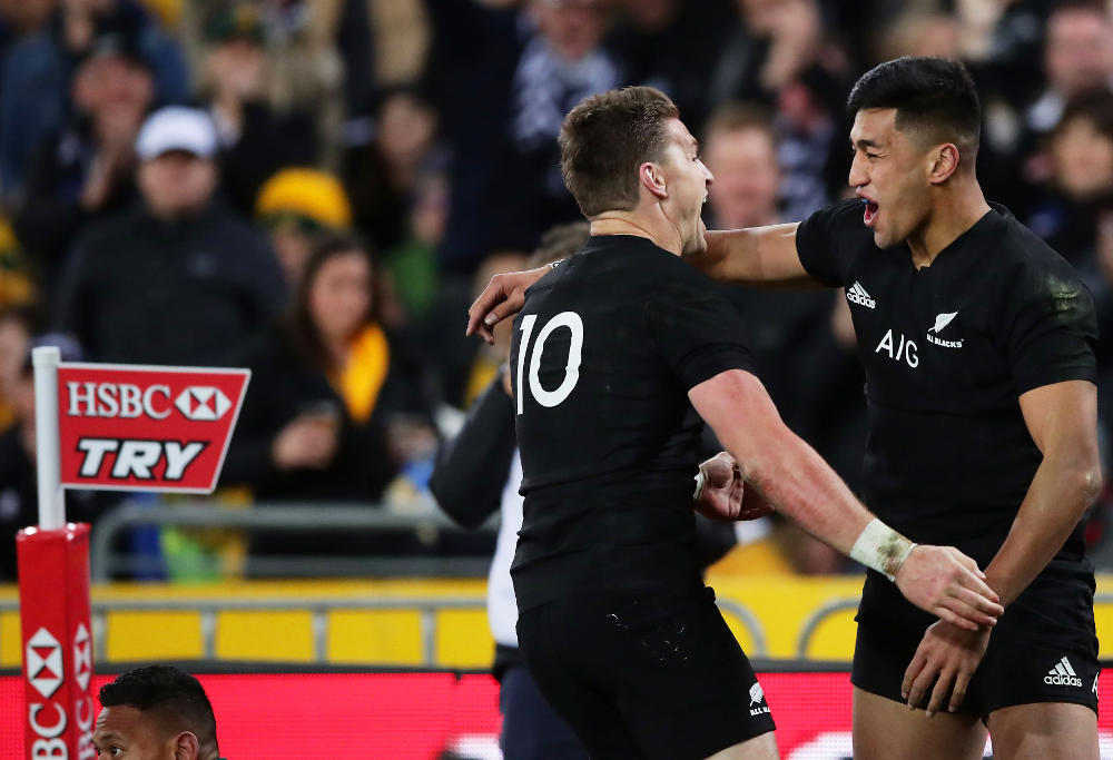 Rieko Ioane New Zealand Rugby Union All Blacks Bledisloe Cup Rugby Championship 2017