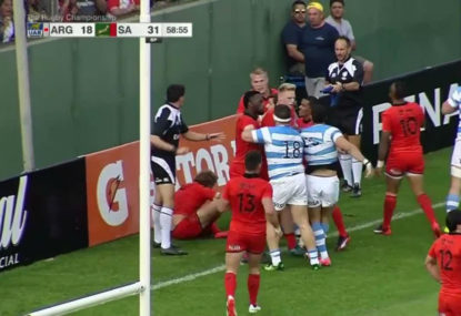 KNOW YOUR LAWS: Rare '10 point try' in Rugby Championship