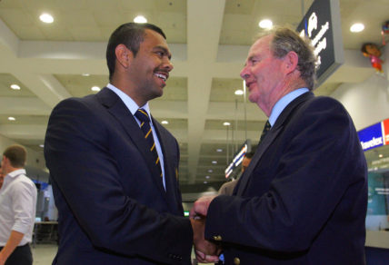 David Brockhoff meets Kurtley Beale