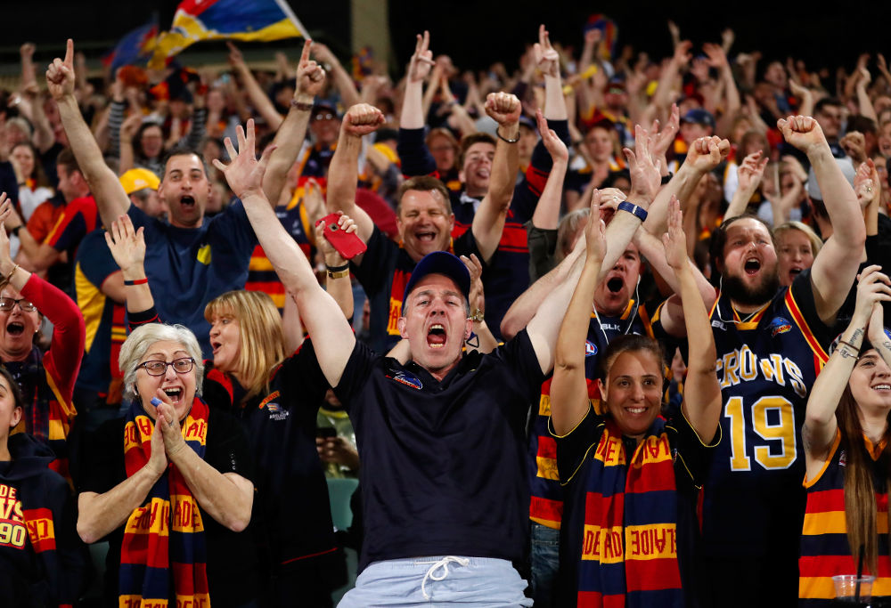 Adelaide Crows Fans AFL Finals 2017