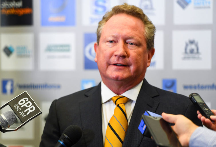 Andrew Twiggy Forrest Rugby Union Western Force IPRC