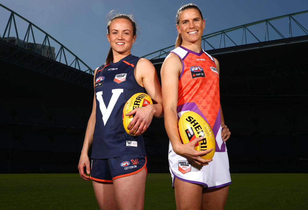 Daisy Pearce Chelsea Randall AFLW State of Origin 2017