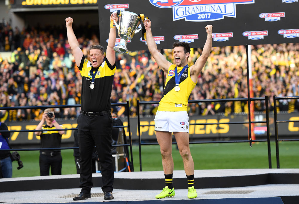 Damien Hardwick Trent Cotchin Richmond Tigers AFL Grand Final 2017