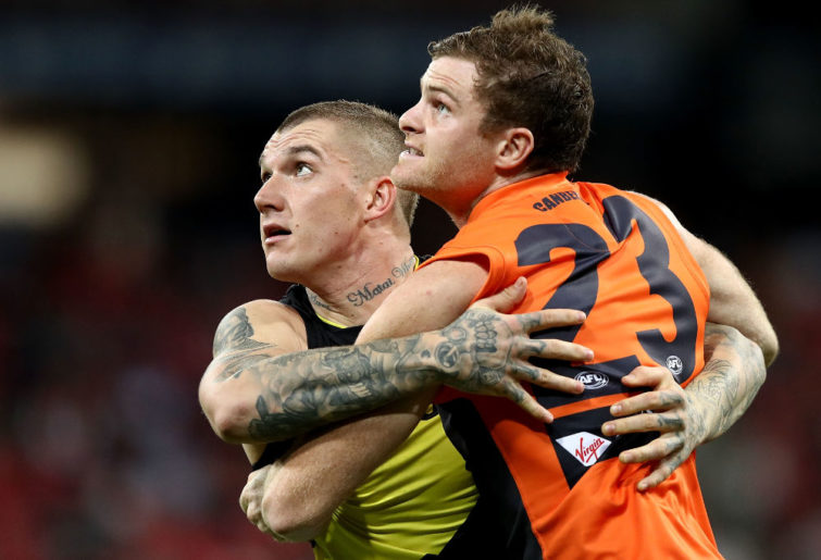 Dustin Martin Heath Shaw Richmond Tigers GWS Giants AFL 2017