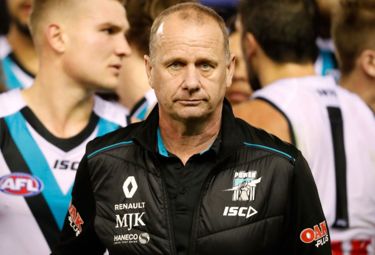 Ken Hinkley Port Adelaide Power AFL 2017