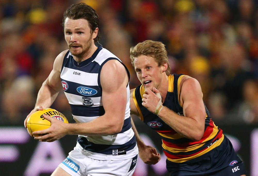 Patrick Dangerfield Rory Sloane Geelong Cats Adelaide Crows AFL 2017