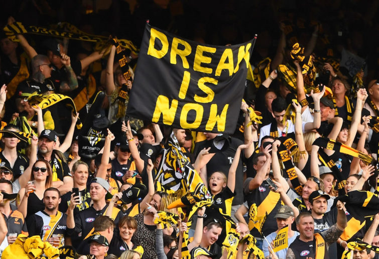 Richmond Tigers fans AFL finals 2017