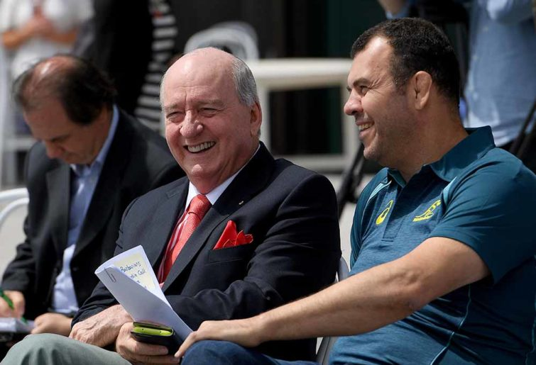 Alan Jones and Michael Cheika chew the fat