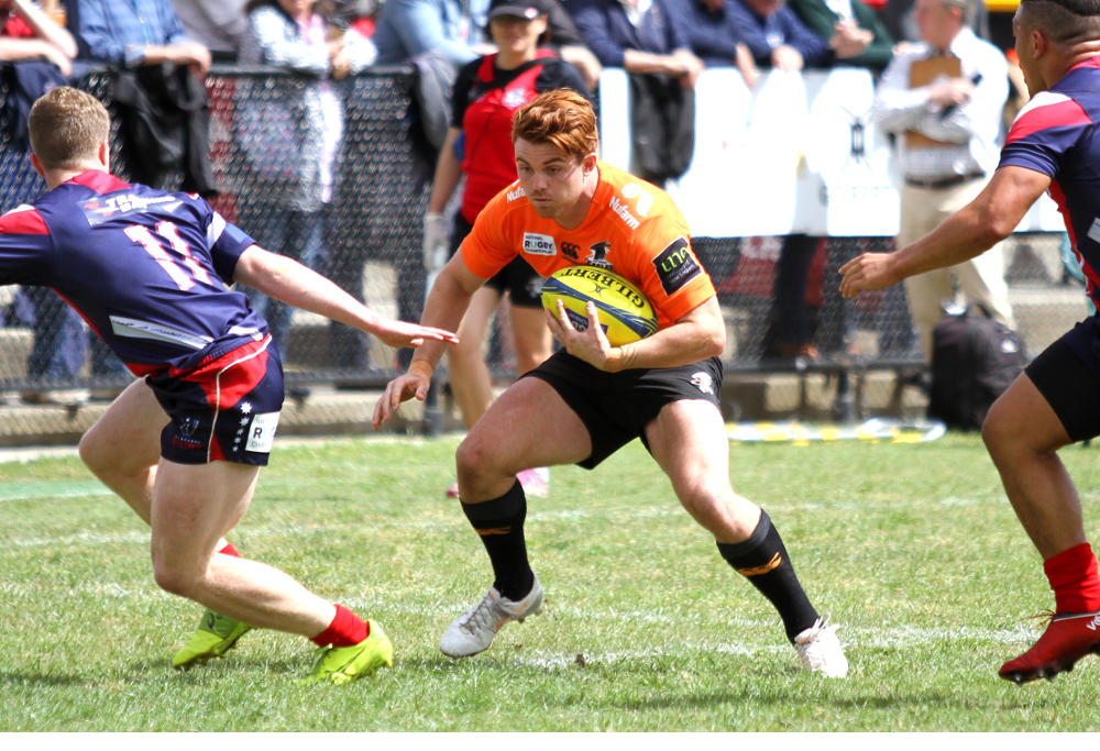 Andrew Kellaway runs the ball back for the NSW Country Eagles