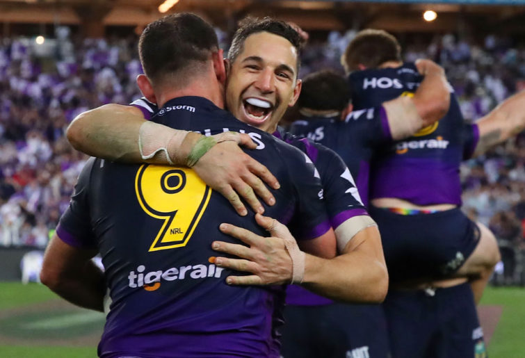 Billy Slater Melbourne Storm NRL Rugby League Grand Final 2017