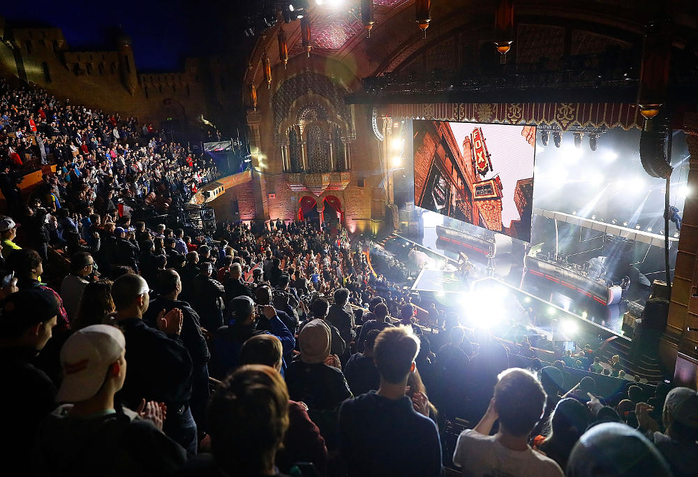 A general view of the opening for the ELEAGUE: Counter-Strike: Global Offensive Major Championship finals at Fox Theater on January 29, 2017 in Atlanta, Georgia.