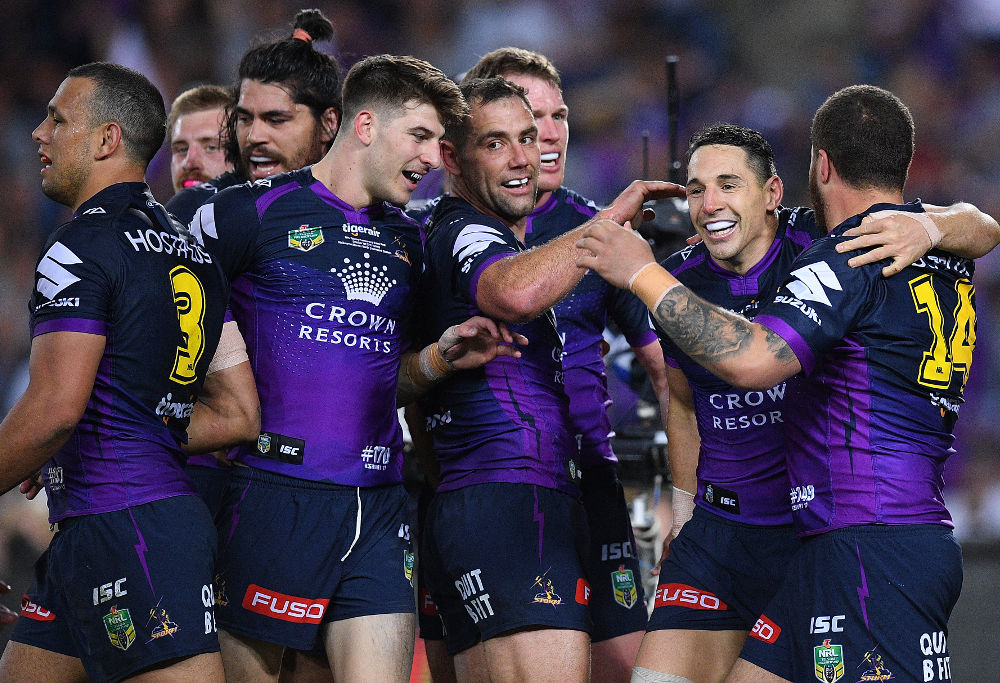 Cameron Smith Melbourne Storm NRL Rugby League Grand Final 2017
