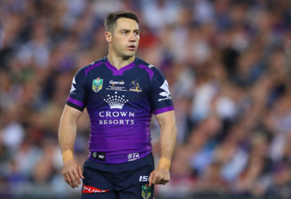 Cooper Cronk says the NRL hiatus might help Storm