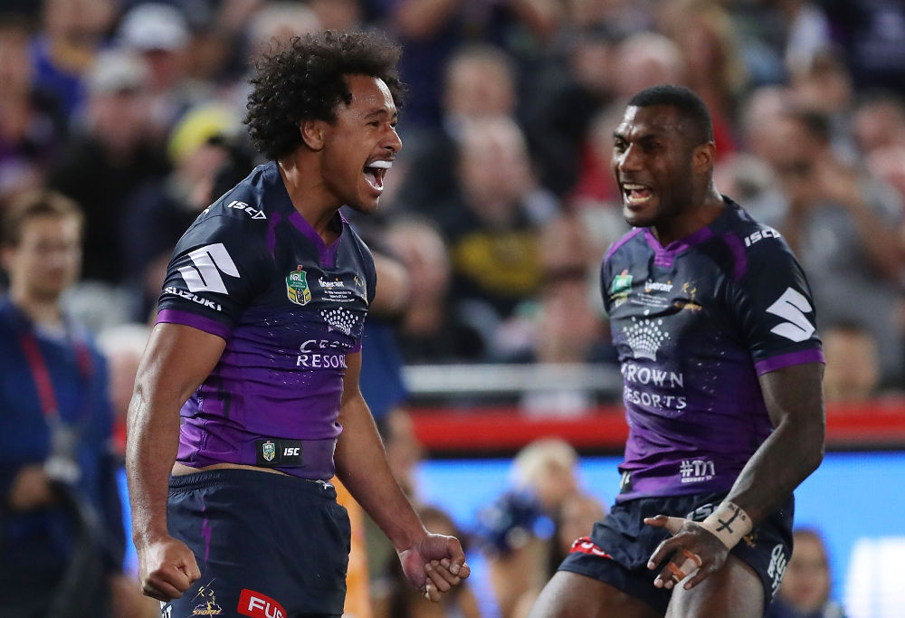 Felise Kaufusi Melbourne Storm NRL Rugby League Grand Final 2017