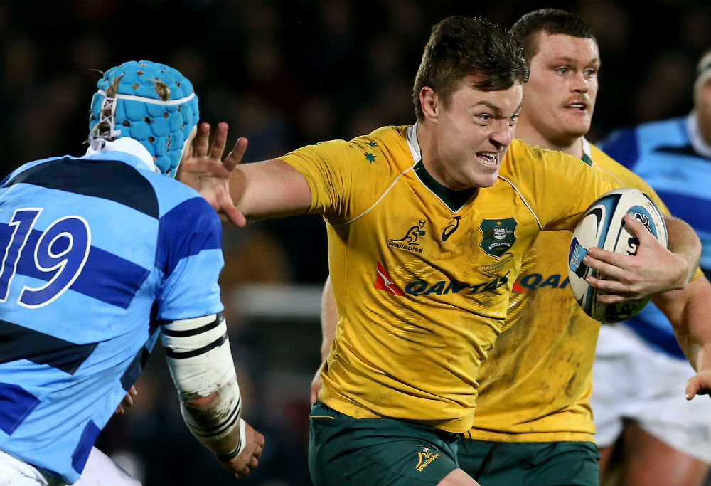 Jack Dempsey playing for the Wallabies