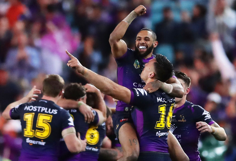 Josh Addo-Carr Melbourne Storm NRL Rugby League Grand Final 2017