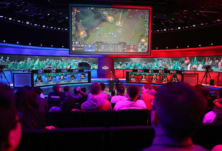general view during the opening round at the League of Legends College Championship on May 25, 2017 in Santa Monica, California.