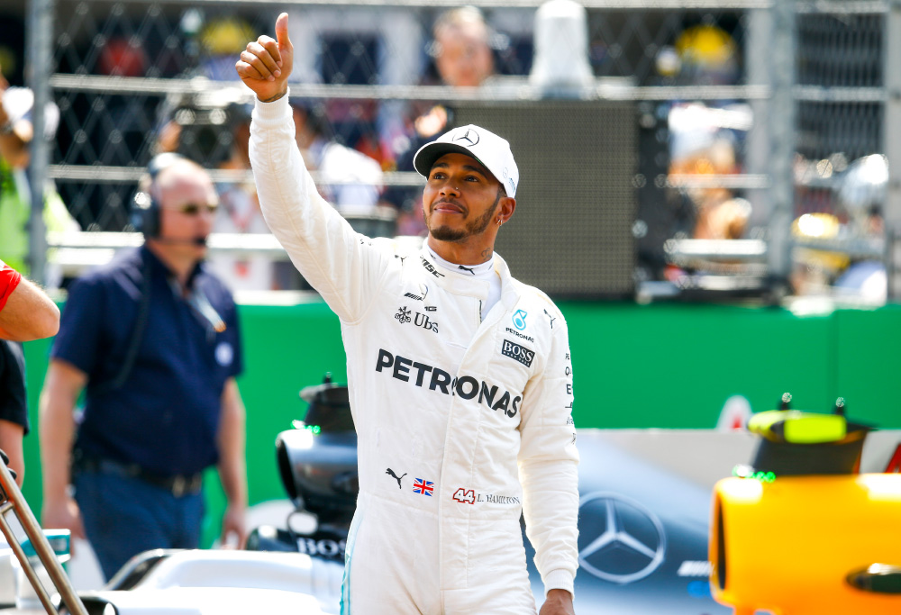 Lewis Hamilton celebrates in front of a sell-out Mexican crowd. (Photo: Mercedes AMG Petronas)