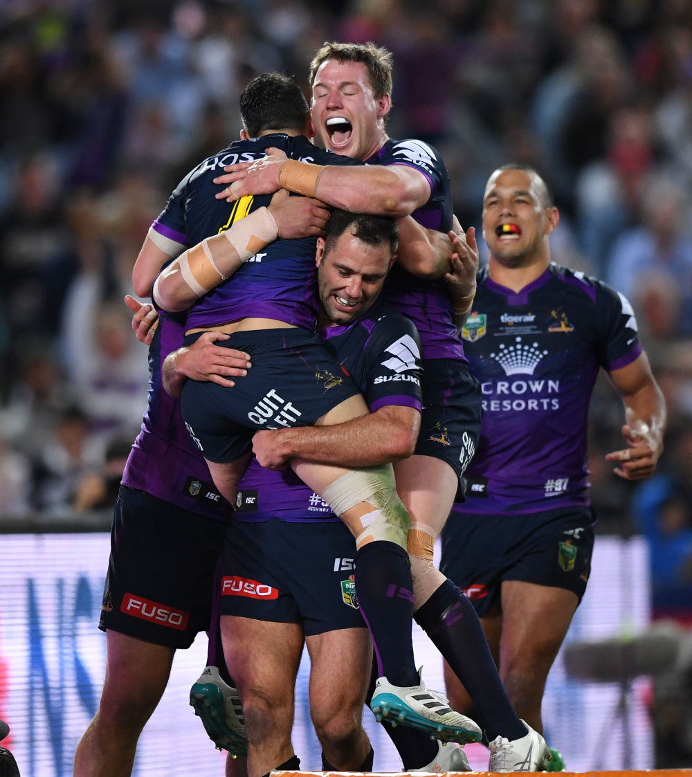 Melbourne Storm NRL Rugby League Grand Final 2017 tall