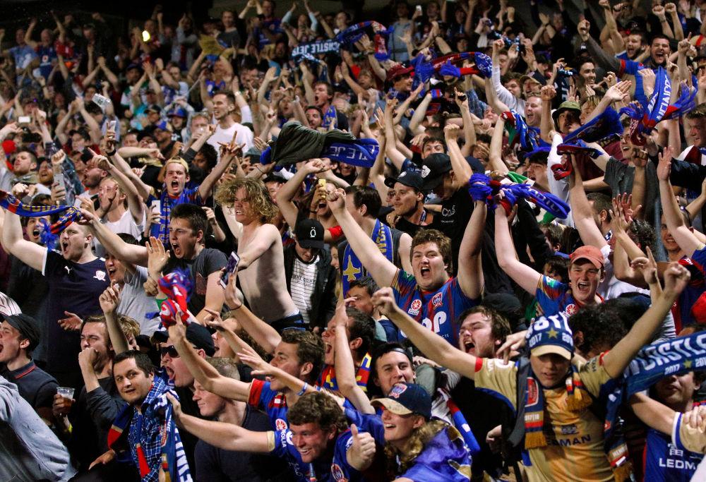 Newcastle Jets fans A-League