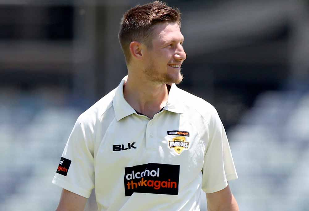Cam Bancroft walks off the field