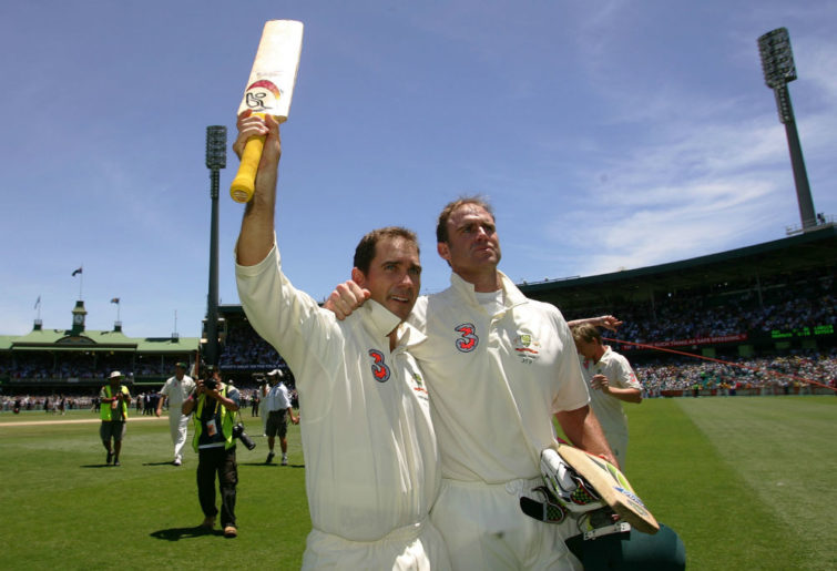 Justin Langer and Matt Hayden
