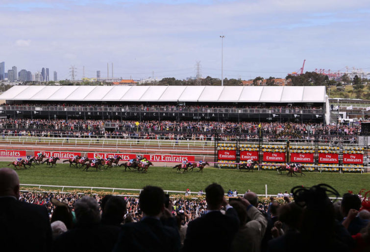 The finish of the 2017 Melbourne Cup.