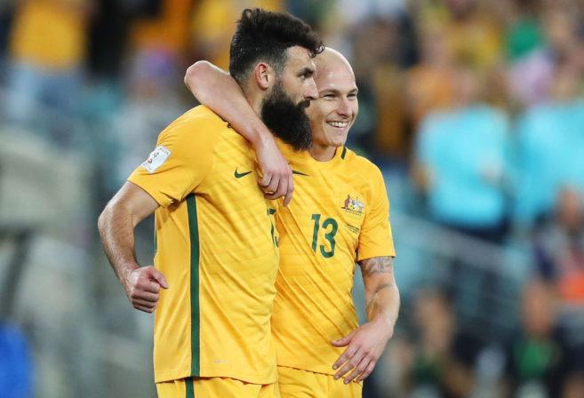 Mile Jedinak Aaron Mooy Socceroos Australia